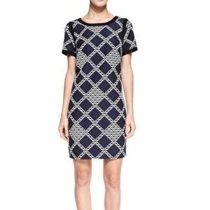 TRINA TURK Geometric Diamond Shift Dress